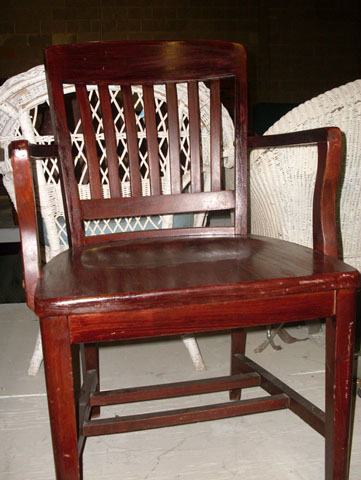 to kill a mockingbird banker chair wooden finish